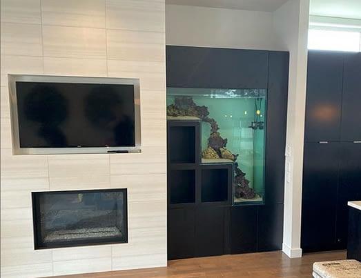 Custom Built In-Wall Aquarium