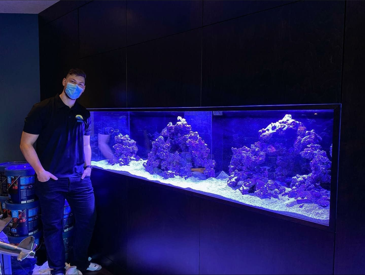 Beautiful 8 Foot Fish Tank