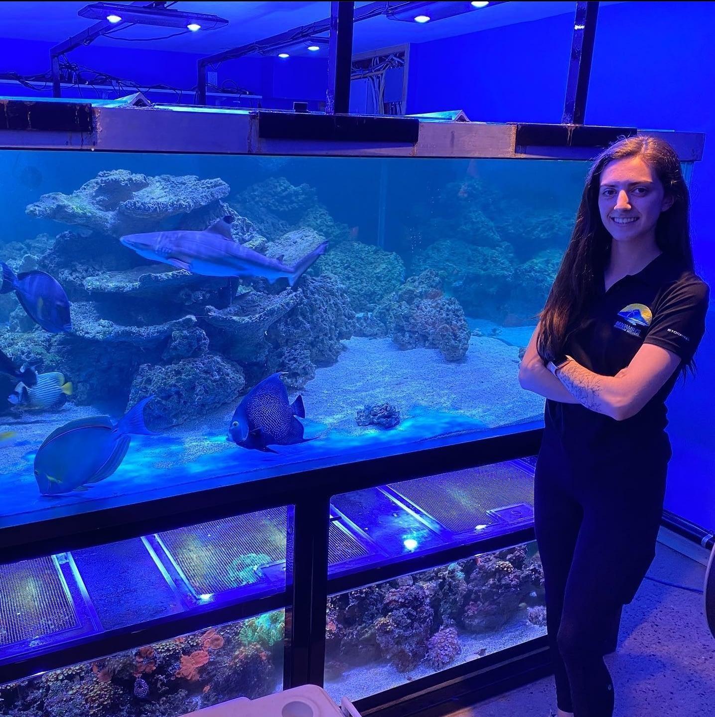 Berklee in front of Shark Tank